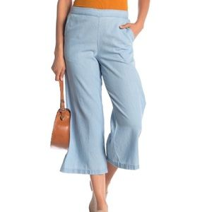 Susina Wide Leg Chambray Wide Leg Pullover On Pant